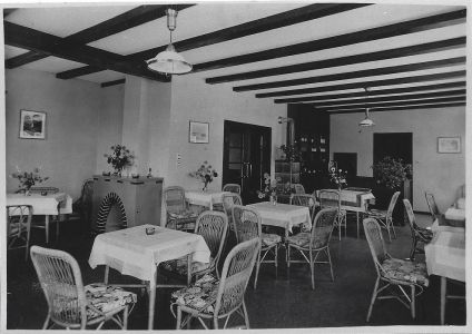 Interieur der Pension MANOR FARM, um 1940